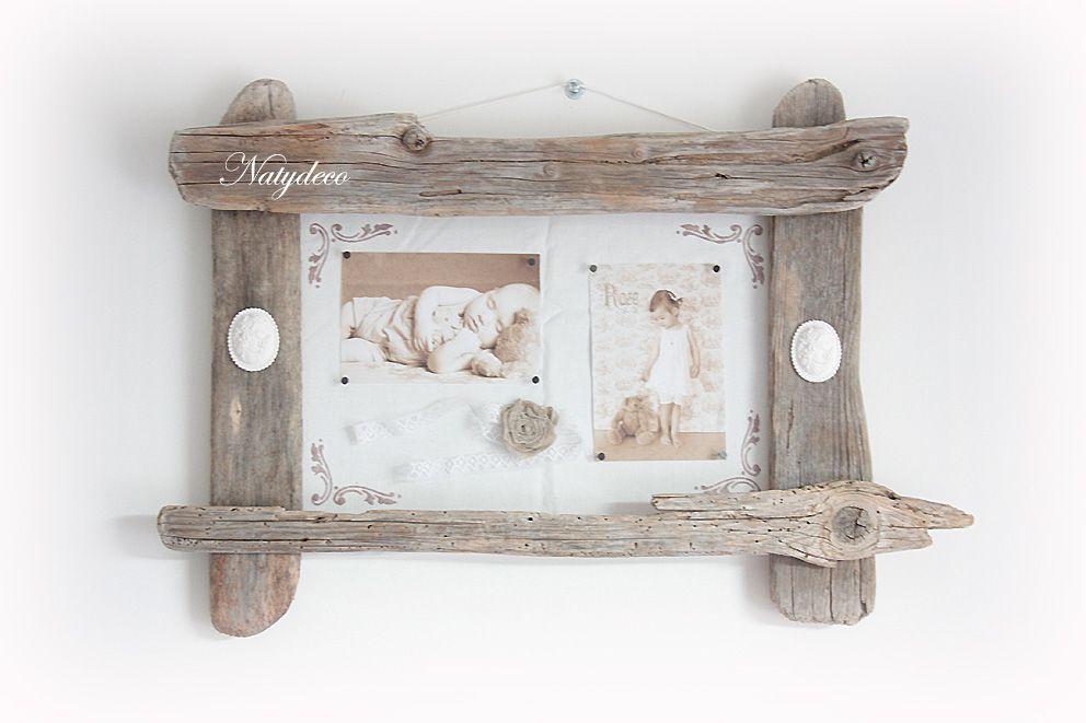 Decoration en bois flotte for Cadre photo en bois flotte