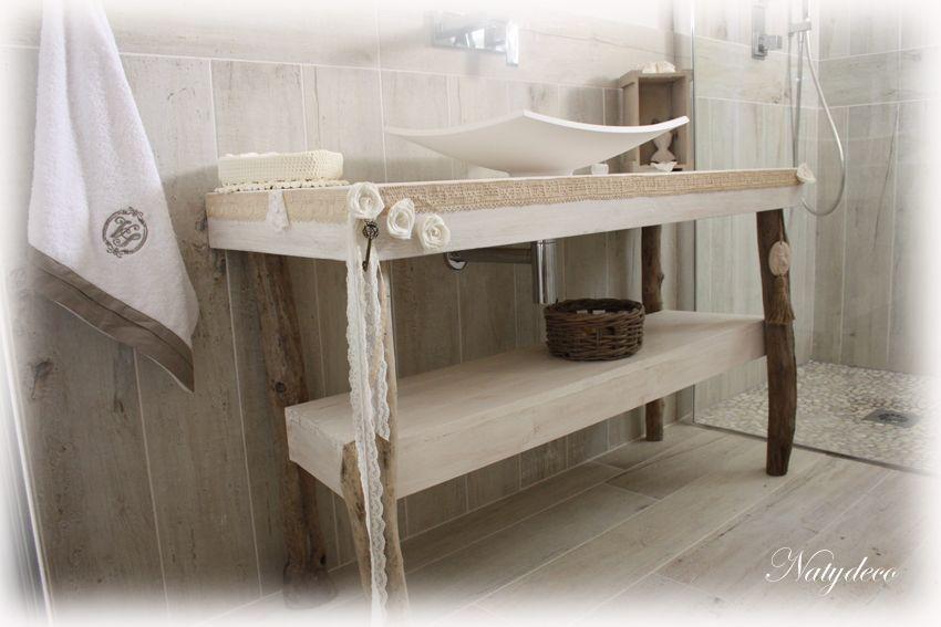 D co salle de bain bois flott d co sphair for Salle de bain en bois flotte